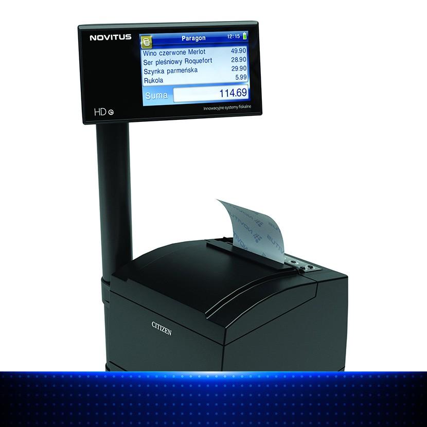 Novitus HD - drukarka fiskalna dla poważnych przedsiębiorców